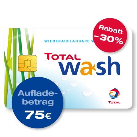 TOTAL Waschkarte – 75 € Guthaben