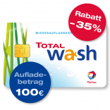 TOTAL Waschkarte – 100 € Guthaben