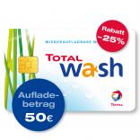 TOTAL Waschkarte – 50 € Guthaben
